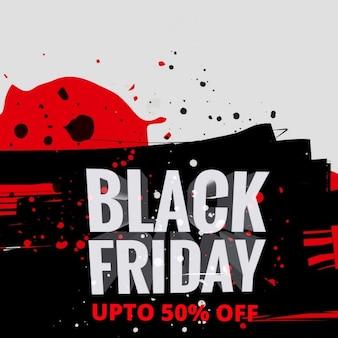 Criativo cartão da venda black friday