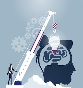 Criativo cérebro idéia conceito vector
