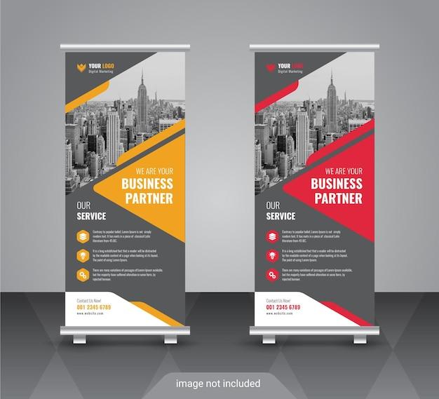 Criativo corporativo e de negócios roll up modelo de design de banner