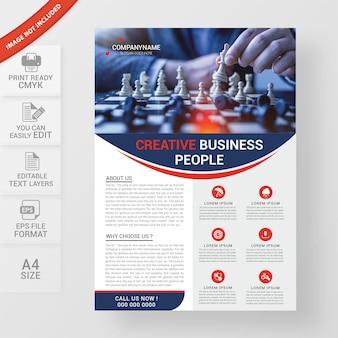 Criativo design de folheto corporativo