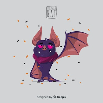 Criativo design de morcego halloween