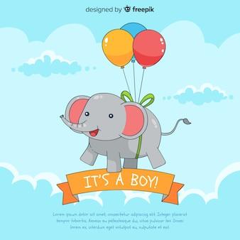 Criativo é um modelo de chuveiro de bebê menino