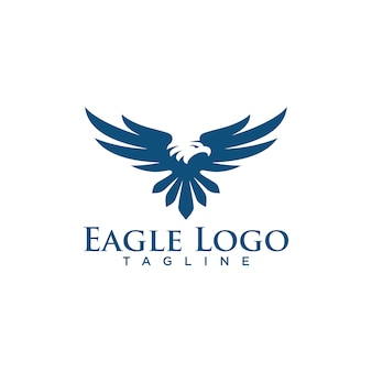Criativo eagle logo stock vector