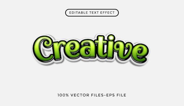 Criativo - efeito de texto editável do ilustrador premium vector
