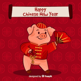 Criativo fundo de ano novo chinês