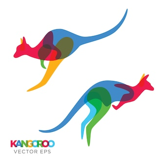 Criativo kangaroo jump animal design