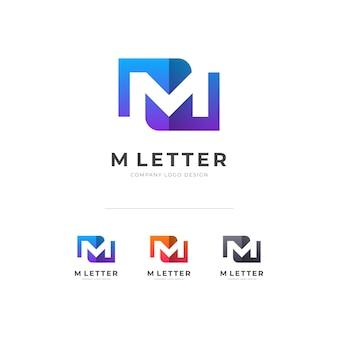 Criativo m carta logotipo d