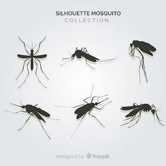 Criativo pacote de silhuetas de mosquito