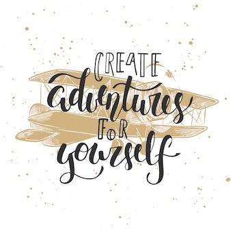 Crie aventuras para si mesmo com avião