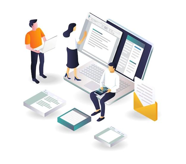 Crie dados de escritório e envie e-mail