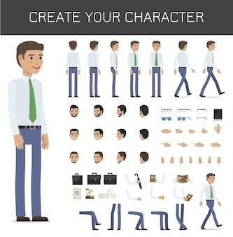 Crie seu conjunto de empresário de personagem