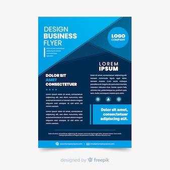 Crie seu modelo de panfleto abstrato de negócios