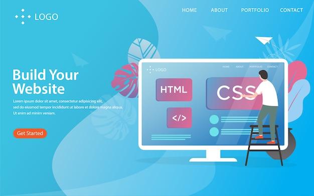 Crie seu site, página de destino