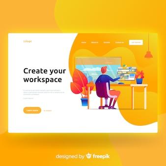 Crie sua página de destino do espaço de trabalho
