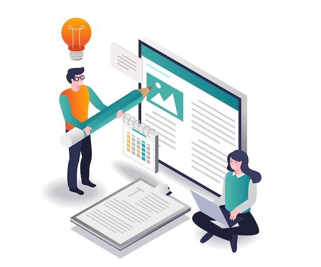 Crie um blog e conteúdo da web com criatividade