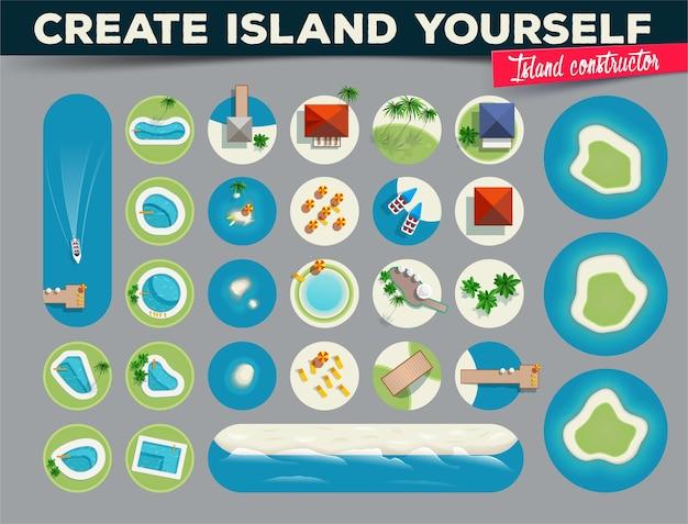 Crie uma ilha construtor de ilha