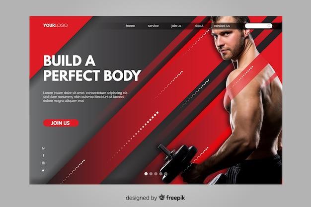 Crie uma página de destino para o corpo perfeito