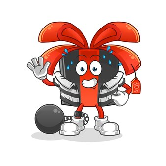 Criminoso de sexta-feira negra. personagem de desenho animado