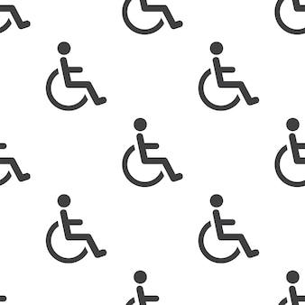 Cripple, padrão sem emenda de vetor, editável pode ser usado para planos de fundo de páginas da web, preenchimentos de padrão