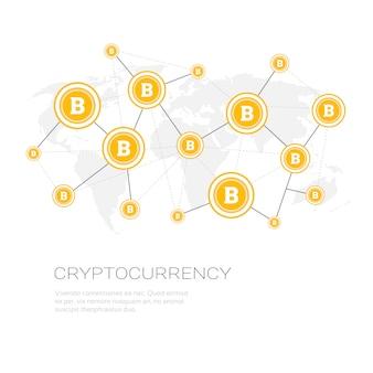 Cripto conceito moeda