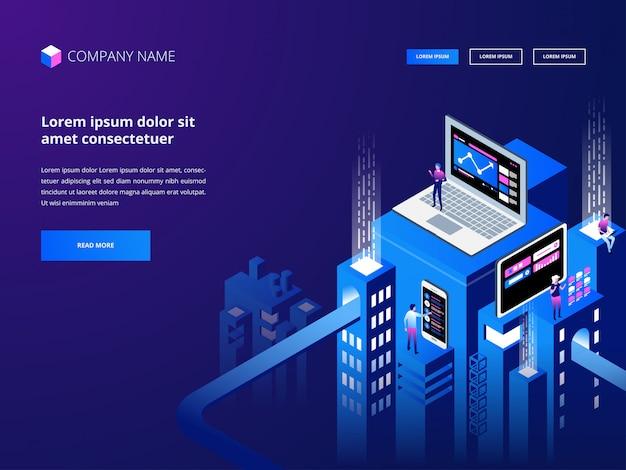 Criptomoeda e blockchain. criação de plataforma de moeda digital. negócios, análise e gerenciamento da web.