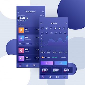 Criptomoedas negociação mobile app.