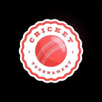 Críquete, tipografia profissional moderna esporte emblema estilo retro e modelo de design de logotipo.