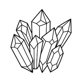 Cristais místicos cristais mágicos ilustração astrologia mística e mágica
