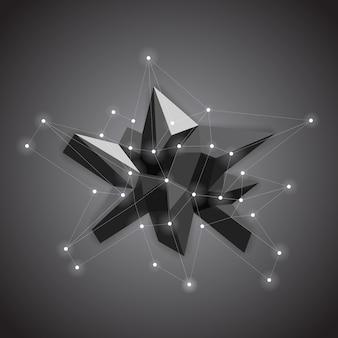 Cristal baixo de poliéster abstrato. forma de baixo poli.
