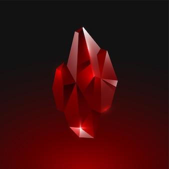 Cristal de rubi pedra preciosa