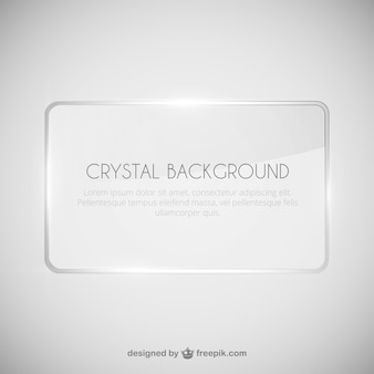 Cristal modelo do fundo