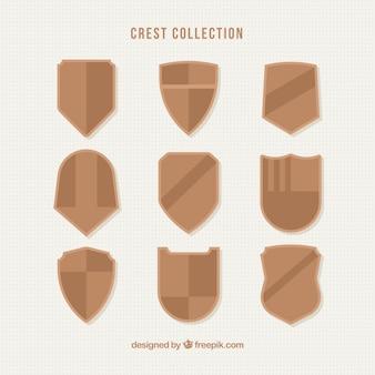Cristas brown em design plano