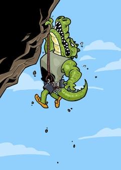 Croco o escalador de rocha