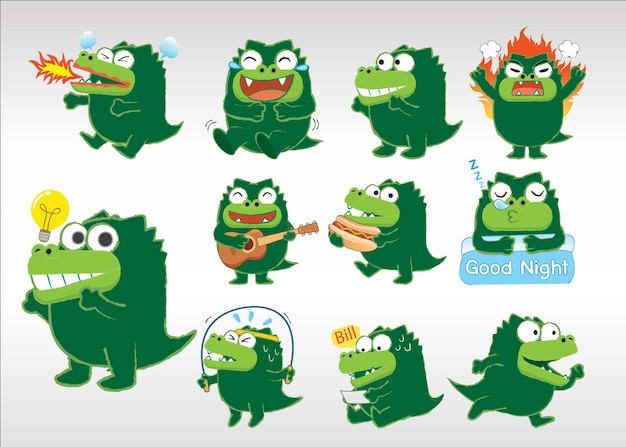Crocodilo agindo