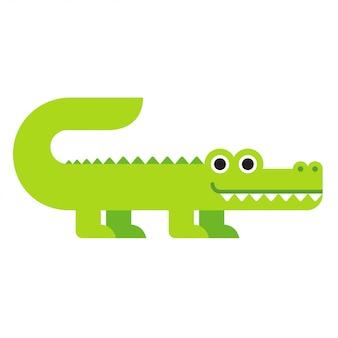 Crocodilo bonito dos desenhos animados