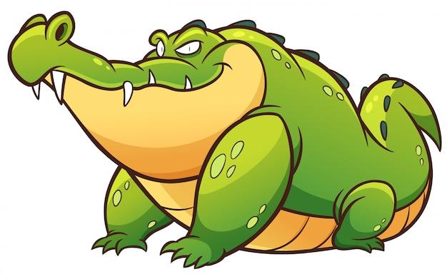 Crocodilo dos desenhos animados