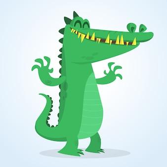 Crocodilo engraçado dos desenhos animados