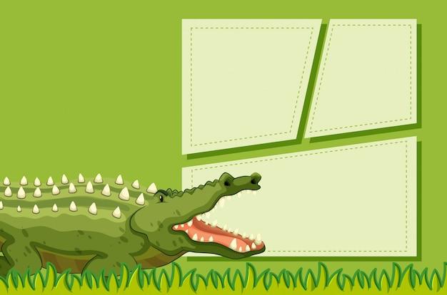 Crocodilo no modelo de nota