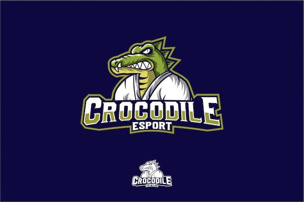 Crocodilo zangado com karatê