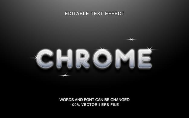 Cromo, efeito de texto editável com estilo de cor moderno.