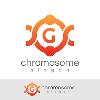 Cromossoma inicial letter g logo design