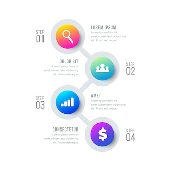 Cronograma circular infográfico