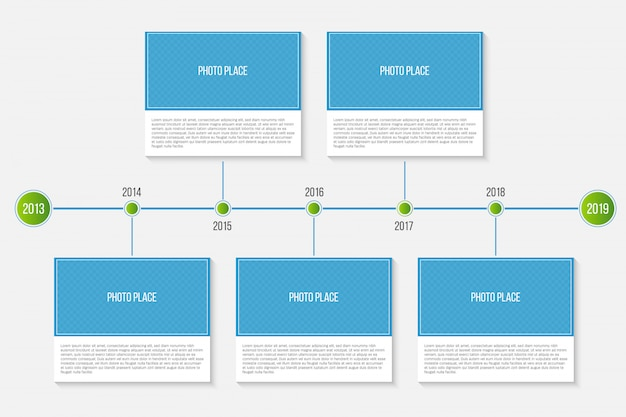 Cronograma de marcos miliários de empresa de infográfico