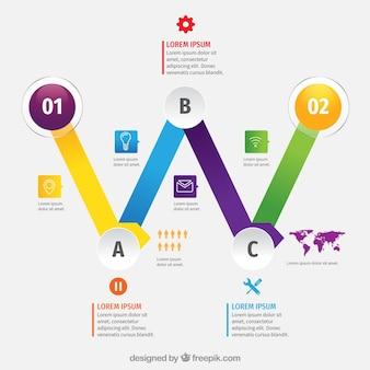 Cronograma de negócios detalhados com design plano