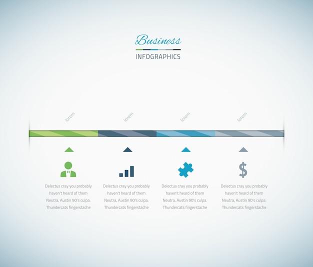Cronograma de negócios infográficos com ícones vetoriais