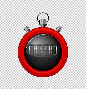 Cronômetro com borda vermelha