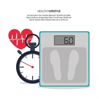 Cronômetro cronômetro ícone do coração