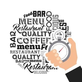 Cronômetro de serviço de entrega de alimentos