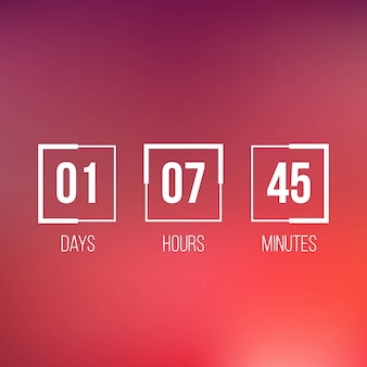 Cronômetro do relógio digital, contagem regressiva, em breve.