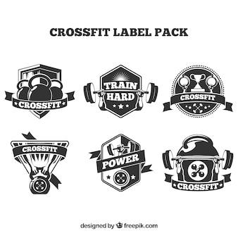 Crossfit coleção de crachá